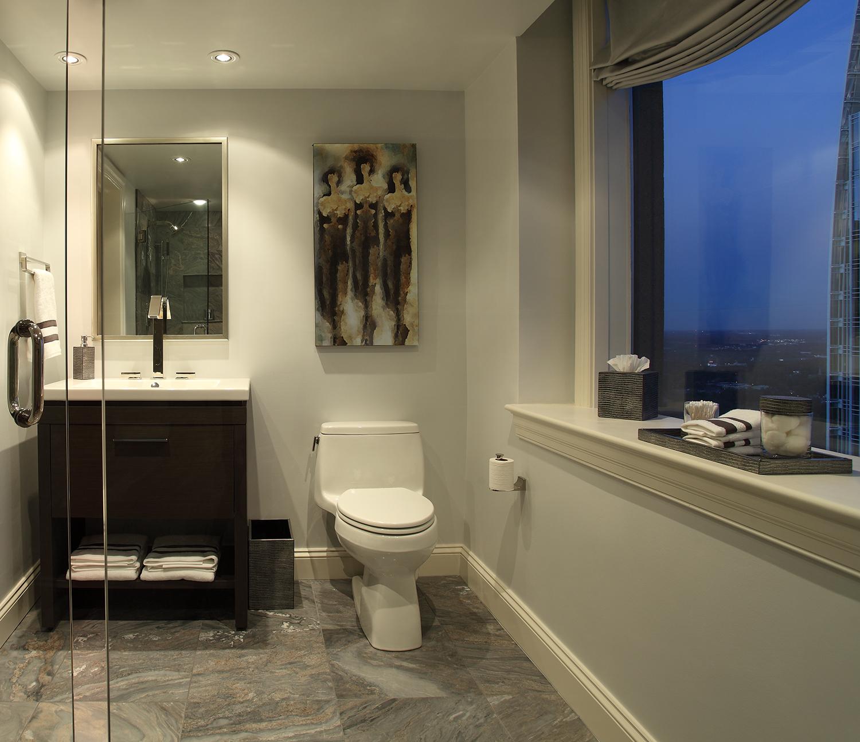 Neutral contemporary bathroom.