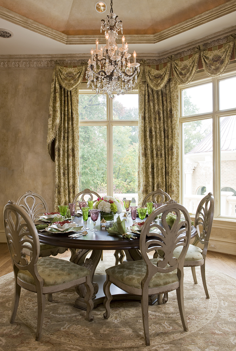 Breakfast Nook with custom curtains