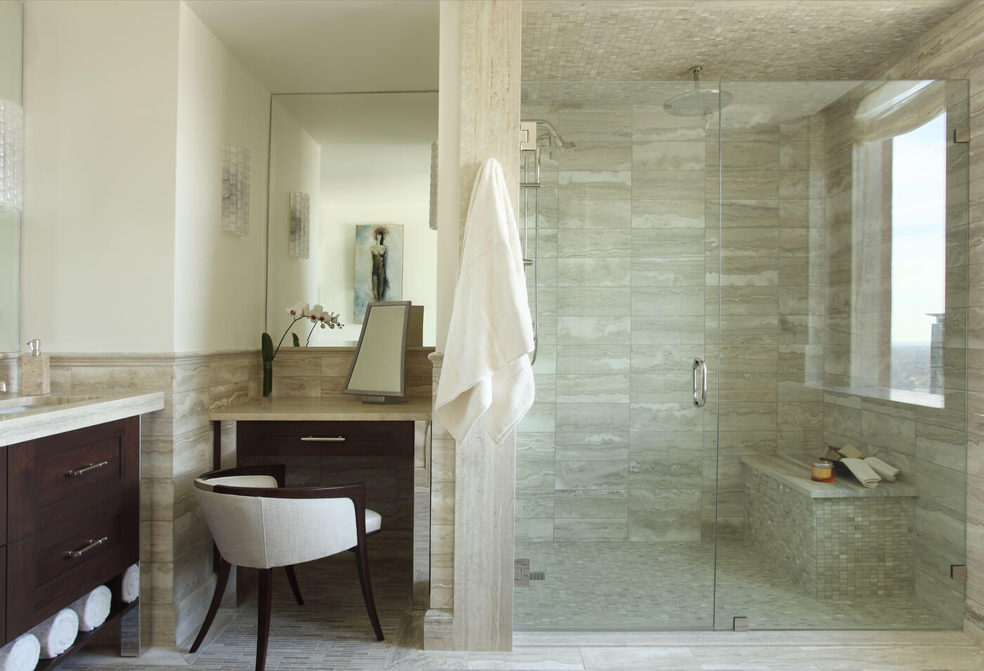 Eco-Friendly Bathroom With Stand Up Shower