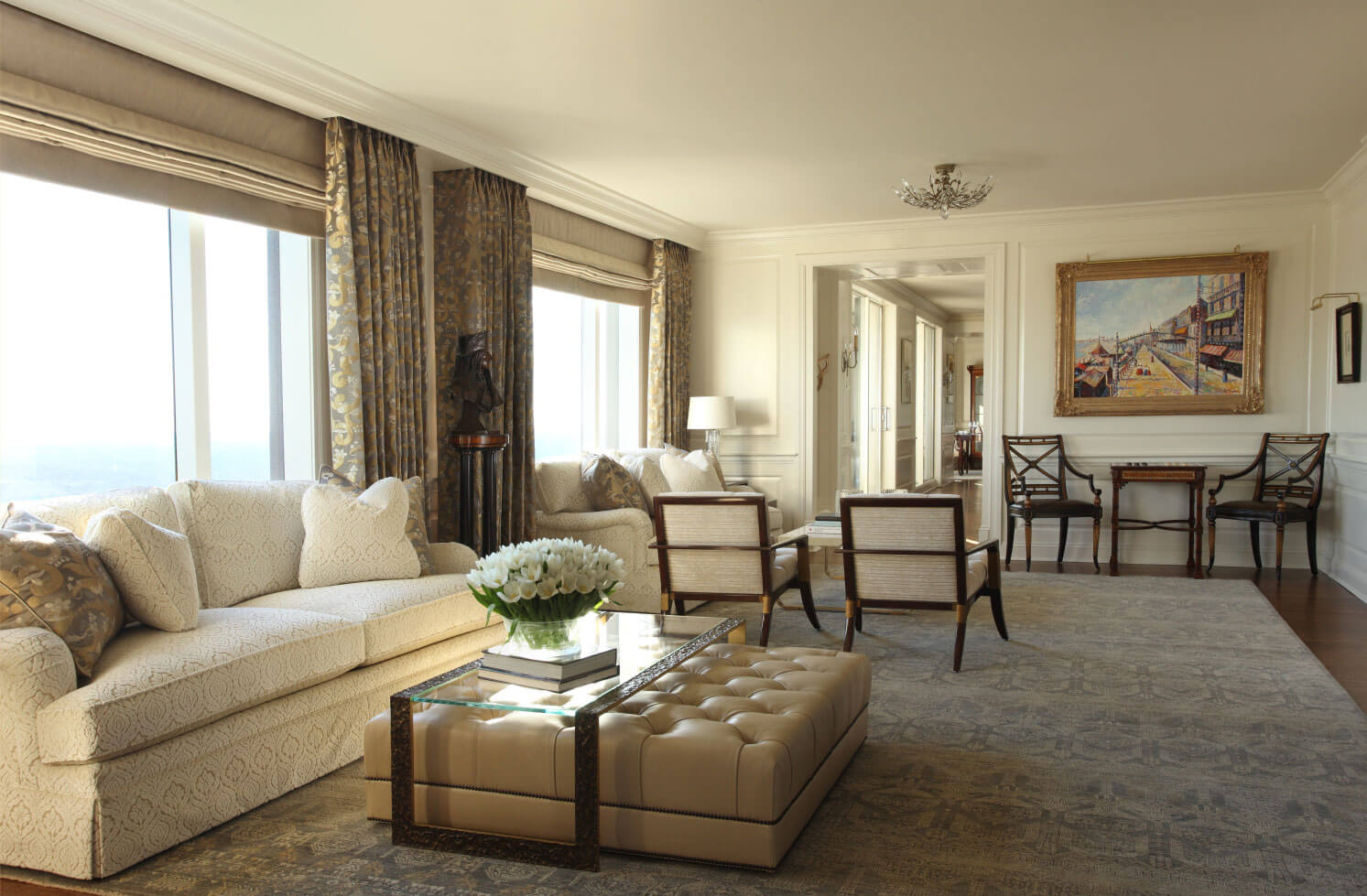 Living Room Design With Energy Efficient Drapery