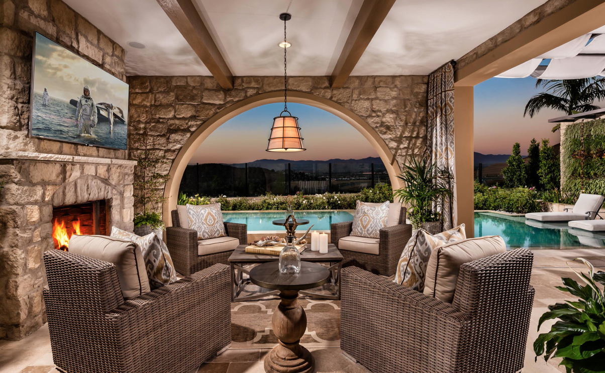 Lighting for the outdoor living room