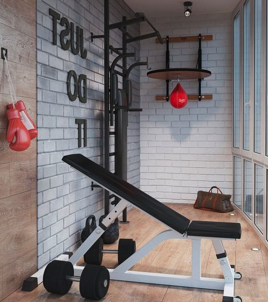 Gym in a patio